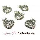 10 pendentifs CITROUILLE HALLOWWEN ref111  VIEIL ARGENT , DIY