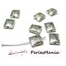 40 pendentifs perles intercalaire Rectangle PAPILLON 10mm ZN29284 VIEIL ARGENT breloques DIY