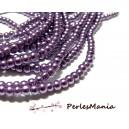 1 fil d'environ 240 perles en verre NACRE RONDE 4mm VIOLET 2D9609, DIY