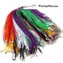 20 Colliers  multicolores organza et corde  6 rangées 1mm 2L4517, DIY