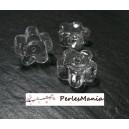 5 globes FLEUR cabochon creux à remplir  en verre23 mm ref9, DIY
