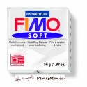 1 PAIN PATE FIMO SOFT BLANC 56 gr  REF 8020-0 MODELAGE