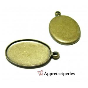 Apprêt bijoux:10 pendentifs qualité extra 18 par 25mm pour image digitale