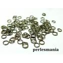 100 anneaux de jonction 7 mm par 0.7 mm  bronze