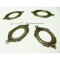 1 pendentif cadre vintage ref A18835