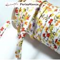 Apprêt 1 m ruban cordon spaghetti 7mm ref B70600 couleur 66 Fleuri
