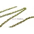10 mètres  CHT104Y Chaine maille  BRONZE 4 par 3mm