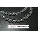 10 perles ronde plates veritable CRISTAL DE ROCHE GRADE AB 12MM ref 17410