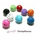 10 pendentifs perles intercalaire Ronds ajourés 60' smulticolore 14mm ref165 DIY