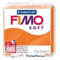1 PAIN PATE FIMO SOFT MANDARINE 56 gr REF 8020-42 MODELAGE, pâtes polymères
