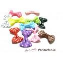 Lot de 20 NOEUDS A POIS multicolores H06011 GROS GRAINS pour création de bijoux