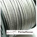 10m de cordon en suédine aspect daim GRIS PG142 qualité, DIY