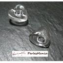1 globe FLEUR cabochon creux à remplir  en verre 23 mm ref 18, DIY