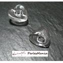 1 globe COEUR cabochon creux à remplir en verre 23 mm ref 18, DIY