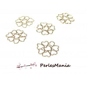 5 Estampes pendentif filigrane Multi coeur OR ROSE 12 mm, DIY