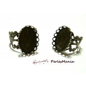 10 Support de bague 13 par 18mm vague bronze anneau dentelle, DIY