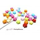 100 pendentifs Petites fleurs acrylique multicolores perles intercalaires 9mm HR807, DIY