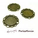 10 pendentif ARTY  Coeur  Vintage  pour cabochon en 16mm  ref184 BRONZE, DIY