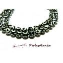Lot 10 pieces perles Ronde facetée AGATE TIBETAINE 8mm Modèle A, DIY