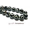 Lot 8 pieces perles Ronde facetée AGATE TIBETAINE 10mm Modèle A, DIY