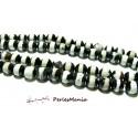 Lot 8 pieces perles Ronde facetée AGATE TIBETAINE 10mm Modèle B, DIY