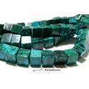 1 fil d'environ 80 perles CUBE Chrysocolle bleu verte carré 5mm, DIY