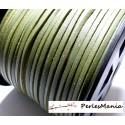 10m de cordon en suédine aspect cuir VERT KAKI PG001519 qualité