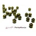 50 perles PE148Y intercalaires rondes 4mm Bronze, DIY