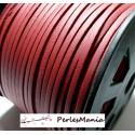 10m de cordon en suédine aspect cuir Rouge Vin PG001517 qualité