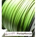10m de cordon en suédine aspect cuir VERT PRINTEMPS PG001511 qualité