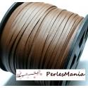 10m de cordon en suédine aspect cuir Marron PG00155 qualité