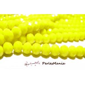 1 fil d'environ 135 perles Rondelles Verre Facettée JAUNE 4 par 3mm Couleur 11