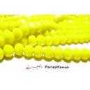 1 fil d'environ 66 perles Rondelles Verre Facettée  JAUNE 10 par 8mm Couleur 11