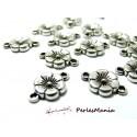 10 pièces connecteur petite fleur Viel argent 2B4518, DIY