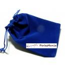 10 pochettes cadeaux velours Bleu électrique ( 100 par 80mm)
