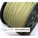 2m de cordon en suédine aspect daim  KAKI CLAIR PG013 qualité