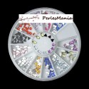 BOITE DE 240 PASTILLES 9 FORMES ONGLES NAIL ART MULTICOLORES S6970111, DIY
