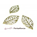 PAX 100 BRELOQUES PENDENTIFS Grande feuille filigrane Bronze, DIY