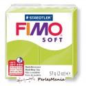 1 PAIN PATE FIMO SOFT CITRON VERT 56 gr REF 8020-52 MODELAGE, pâtes polymères