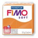 1 PAIN PATE FIMO SOFT ORANGE CLAIR 56 gr REF 8020-41 MODELAGE, pâtes polymères