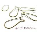PAX 200 Boucle d'oreille dormeuses 35 par 15 mm BRONZE , DIY