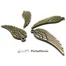 PAX: 50 breloque pendentif  plumes  MM Bronze S1101876