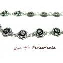 Apprêt bijoux 20 cm MAGNIFIQUE chaine rose viel argent ref 22, DIY