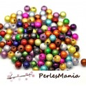 PAX 100 PERLES ILLUSIONS MAGIQUES MIRACLE MULTICOLORES 6mm PS17049