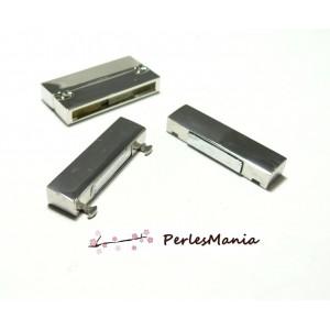 1 SET DE GRANDS FERMOIRS ARGENT PLATINE MAGNETIQUES AIMANTES P11617