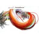 10 Colliers  Plastique translucide Multicolore 2mm H2811 avec fermoir et chaine de confort, DIY