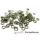 100 anneaux de jonction BRONZE  4mm par 0.7mm, DIY