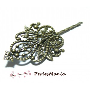 10 Supports de barrette Majestueuses Bronze ref 13521, DIY