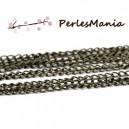 PAX 10m chaine BRONZE  4 par 3mm S1110832 pour création de colliers, DIY