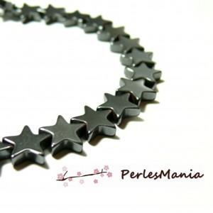 1 fil d'environ 87 perles intercalaire Hématite étoiles plat 6mm Gris metallisé H1521